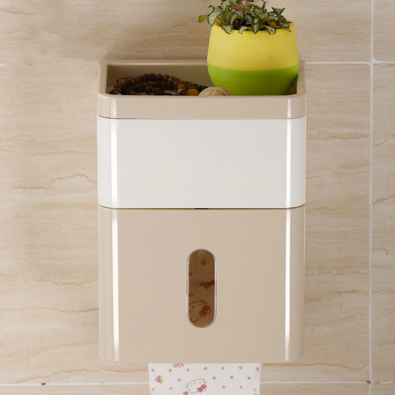Bathroom Fixtures Provided Simple Bathroom Accessories Toilet Paper Holder White Lavatory Closestool Toilet Paper Dispenser Tissue Box Goods Of Every Description Are Available