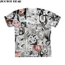 a4cb519a31d0c Língua Para Fora Ahegao 3D Impressão Homens de Manga Curta camiseta 2019  Nova Masculino Crossfit Aptidão Camisa Camisa Da Forma .
