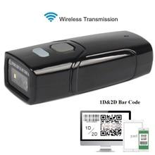 цена на Portable Handheld Wireless Bluetooth 1D/2D  Bar code Scanner Barcode Reader