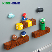 3D Cute Super Mario Decorated Childrens Stereo Magnet Creative Magnetic Stickers Refrigerator To Stick Home Accessories