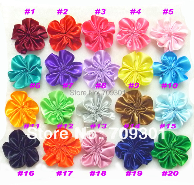 """2.3"""" Classical Pure Color Flower Head Without Clips single cluster flowers DIY flowers 16 Colors Mixed 150 Pcs Free Shipping"""