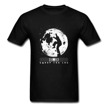 T Shirt Sweep The Leg TShirts Mens T-Shirt Printed Fall Special Tops Tees Kung Fu Master Clothes Black White Moon 100% Cotton