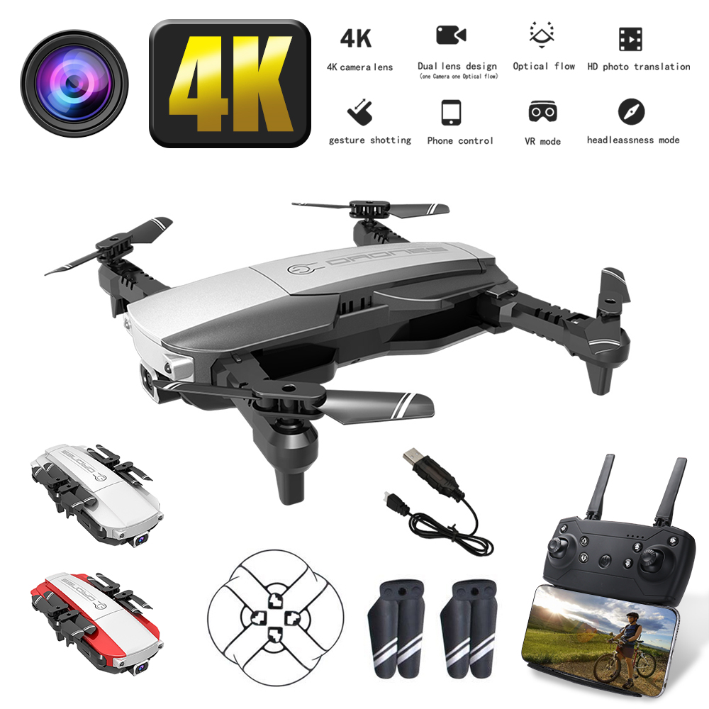 Profession LANSENXI-NVO 2.4GHz WiFi FPV Drone 4K Camera 1080P RC Drone Real-time Transmission Aircraft Toy 3 Colors