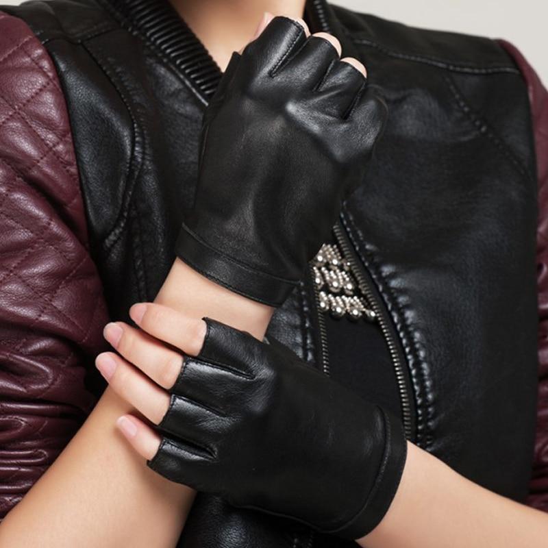 Brand Men and Women Genuine Leather Gloves Sheepskin