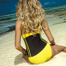Beach Swimming Suits Sexy Perspective 1 Piece Bodysuits Bathing Suit Pushup Cup Trikinis Women High Waist Swimsuits One-piece