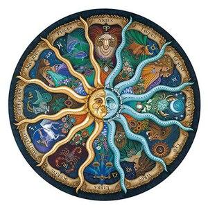 Image 1 - iPiggy Landscape 500 Pieces Zodiac Horoscope Puzzle Toys Collection DIY Constellation Jigsaw Paper Puzzles home decoration