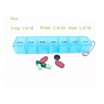1PCS 3 Colors 7 Days Weekly Tablet Pill Medicine Box Holder Storage Organizer Container Case Pill Box Splitters 1