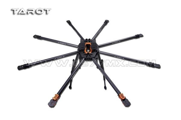 Tarot T18 25mm de fibra de carbono Octocopter marco FPV Kit de TL18T00 Octocopter Marco de 1270mm FPV Multi-Rotor