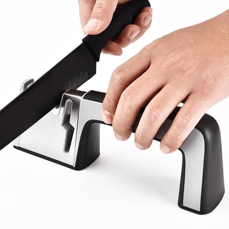 HADELI Quick Knife Sharpener Grinding Knife Sharpener Kitchen Gadgets Hand-held sharp knife tool Angle grinder