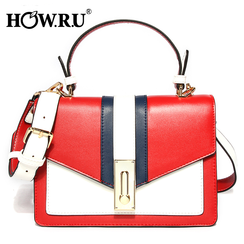 HOWRU High Quality PU Leather Ladies Cross Body Messenger Shoulder Bags Famous Brands 2019 Summer Women