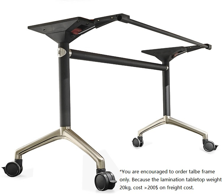 70cm High Foldable Office Table Of 180x80cm / Sturdy Desing Of Metal Frame 12kg / Mobility Conference Classroom Training Table