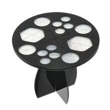 1pc Acrylic Round Makeup Brushes Rack Organizer Holder Folding Collapsible Eyeshadow Drying Brush Stand Storage Cosmetic Tools