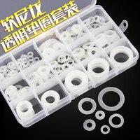 1 صندوق/الوحدة لينة النايلون البلاستيكية جوانات غسالات غسالات السباكة مانعة مجموعة 225 قطع