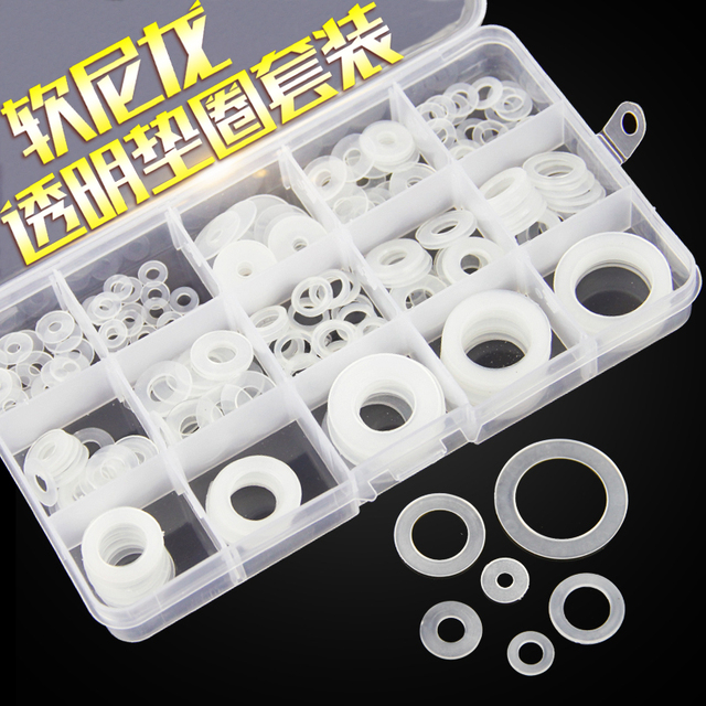 1box /lot Soft nylon washers plastic washers insulation washers ...