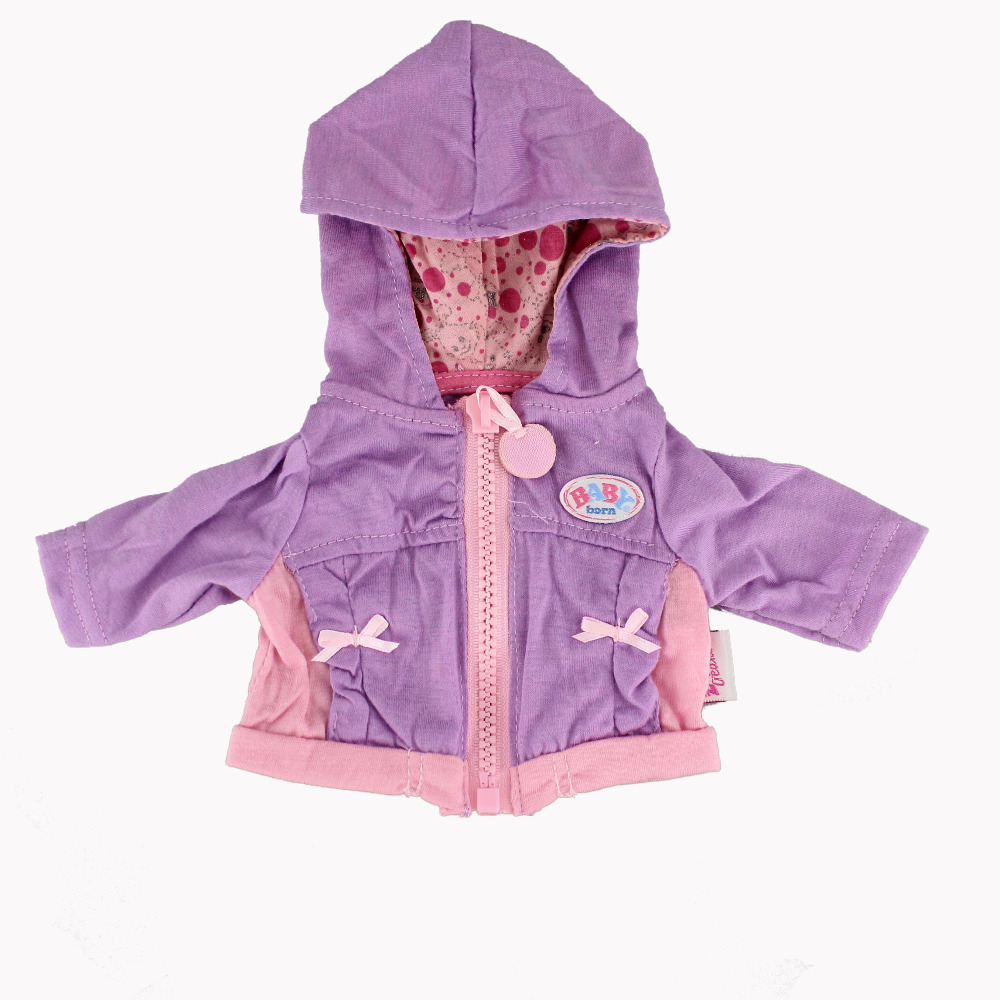 Hot Purple Coat Doll Clothes Wear fit 43cm Baby Born zapf, Children best Birthday Gift(only sell clothes)