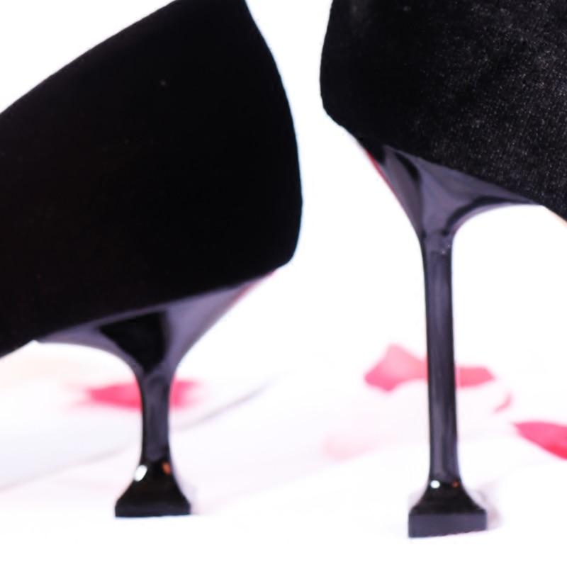 Fête 5cm Bout 5 Hauts On Peu Pointu 8 5cm 5cm Marée Chic De 5 5cm Talons Troupeau 8 Design Arc Pompes Profonde Slip noeud Chaussures Femme Mariage vFt610x