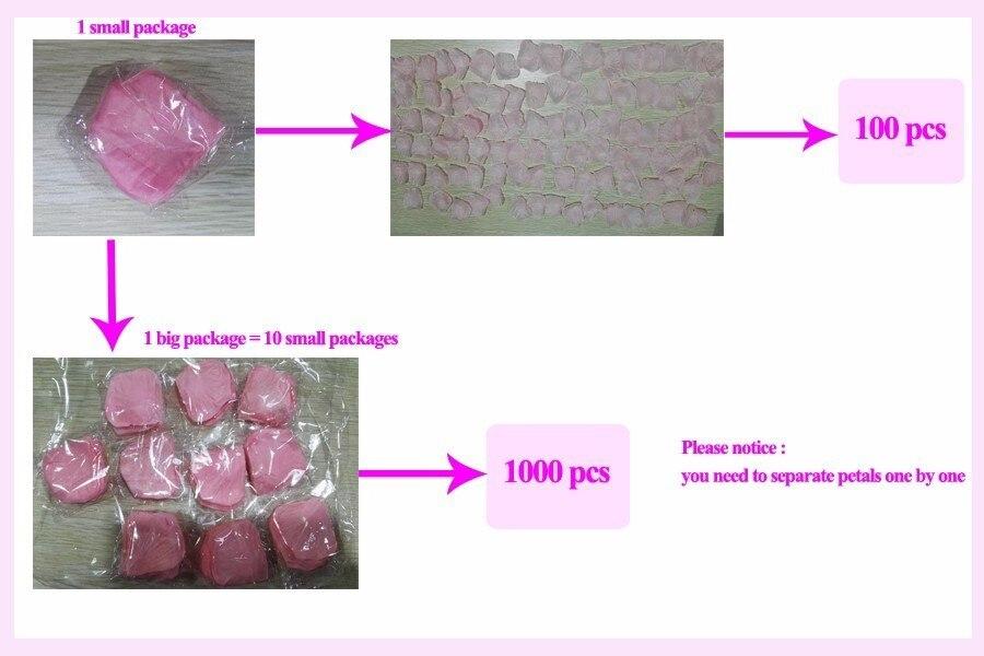 1000pc Artificial Flower Pedals 9