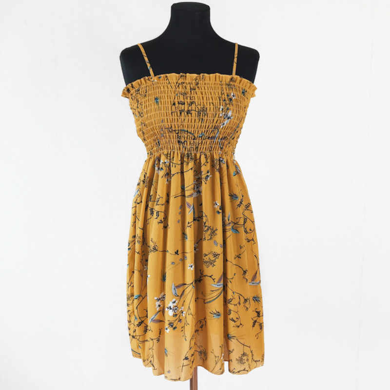 24 цвета женское летнее платье с цветочным рисунком 2019 женское платье без рукавов Тонкий хлопок Спагетти ремень платье с принтом женское Элегантное повседневное платье