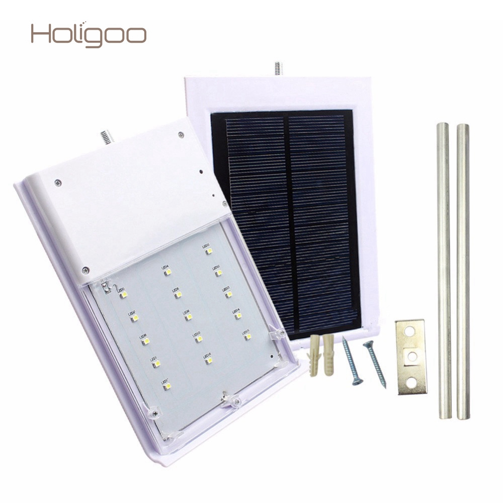 Holigoo 15 LED Solar Lamp Outdoor Led Lights Solar Light Street Light Outdoor Garden Light Sunight Security Wall Lamp luminaria цены
