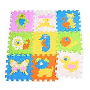 Image 5 - مجموعة مكونة من 9 قطعة/المجموعة من سجادة لعب الأطفال مصنوعة من الفوم إيفا سجادة زاحفة للأطفال سجادة كروبن للأطفال سجادة ألغاز مجمعة على شكل حيوانات لألعاب الأطفال
