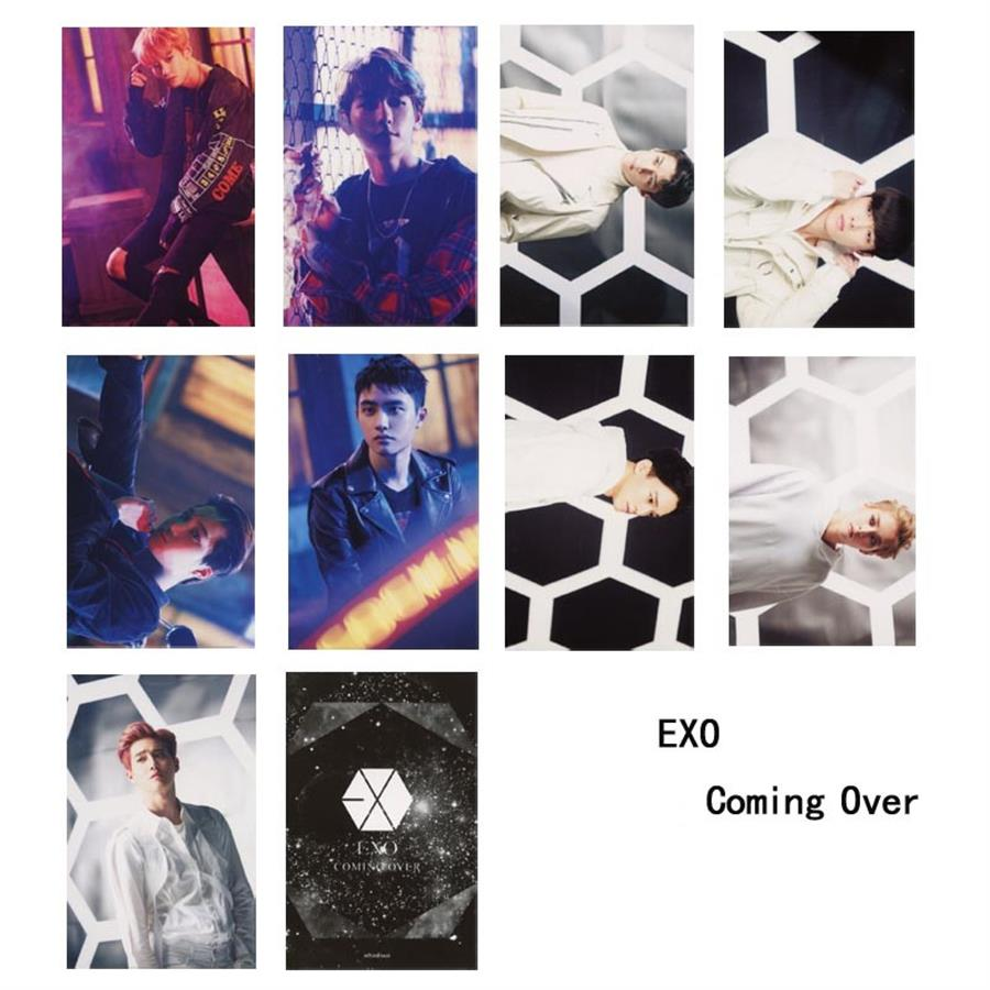 Kpop EXO Coming Over Paper Photo Cards Chanyeol Kai Self ...