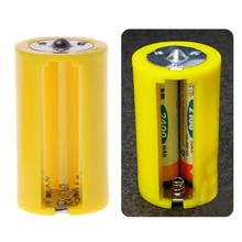 4 pces 3 aa para tamanho d adaptador conversor de suporte de bateria switcher caixa de plástico