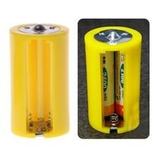 4 pièces 3 AA à D taille support de batterie convertisseur adaptateur commutateur boîtier en plastique