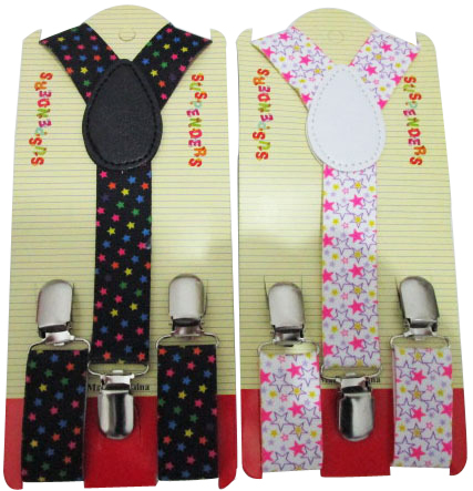 Free Shipping 2018 New Fashion Adjustable 1 Inch Wide Kids Colorful Star Printed Braces Boys Suspenders