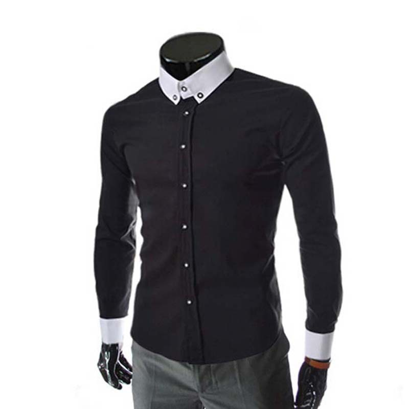 2015 Spring 4 Colors Men Button Up Shirts Casual Neckline ...