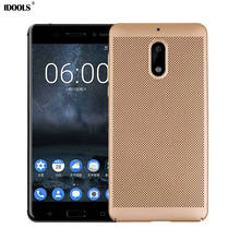 hot deal buy idools phone case for nokia 6 plastic back cover protect shell for nokia 6 nokia6 5.5 inch fashion thin 360 cooling for nokia 6