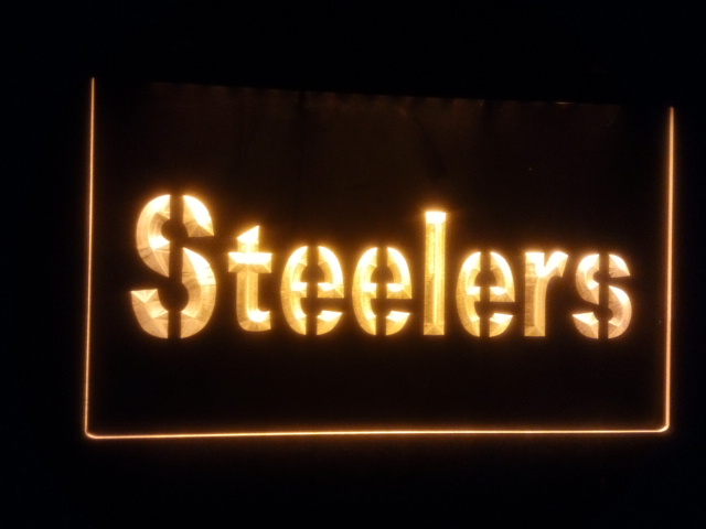B 142 Pittsburgh Steelers Beer Bar Pub Club 3d Signs Led Neon Light Sign Home