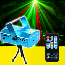 цены LED Stage Effect Lighting Portable Music Auto/Sound Active LED Lights Laser Club Disco DJ Party Bar KTV Wedding Christmas Light