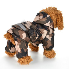 Bigeyedog Dog Raincoat Waterproof Clothes for Dogs Rain Coat Outdoor Walking Dog Rainwear Hooded Poncho Rainy Day Pet Clothing