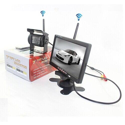 12 V 24 V voiture caméra de recul vue arrière sans fil IR Vision nocturne caméra de sauvegarde Kit étanche + 7TFT LCD moniteur aide au stationnement