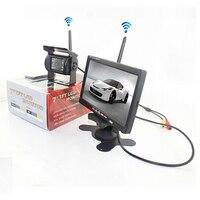 12V 24V Car Backup Camera Rear View Wireless IR Night Vision Backup Camera Waterproof Kit + 7TFT LCD Monitor Parking Assistance