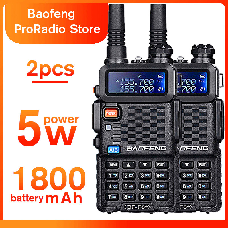 2PCS Baofeng BF F8 Walkie Talkie Dual Double Band Ham VHF UHF Radio Station Transceiver Outdoor