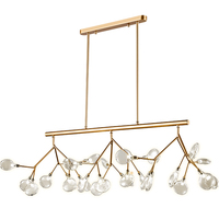 Modern Firefly Glass Ceiling Light Iron Tree branch suspension luminaire Gold Black Ceiling lamp living room lustre suspension