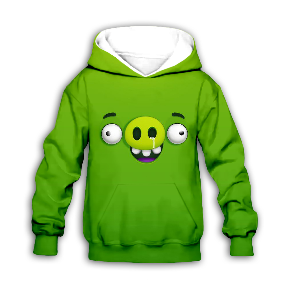 Children green Sweatshirts 3D cartoon animal Pig Print Kids Hoodies Casual Jacket Boy Coat girl Clothing family matching outfits in Matching Family Outfits from Mother Kids
