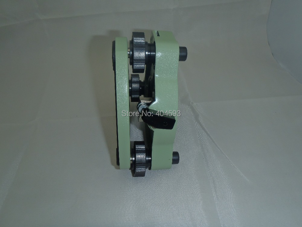 Green Tribrach without optical plummet for leica total station single prism with soft bag for leica type total stations