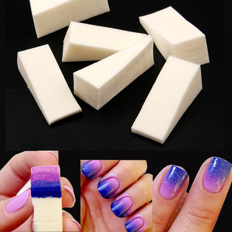 6Pcs Woman DIY Creative Nail Polish Nail Art Tools Salon Nail Gradient Sponges For Manicure Nail Art Accessory