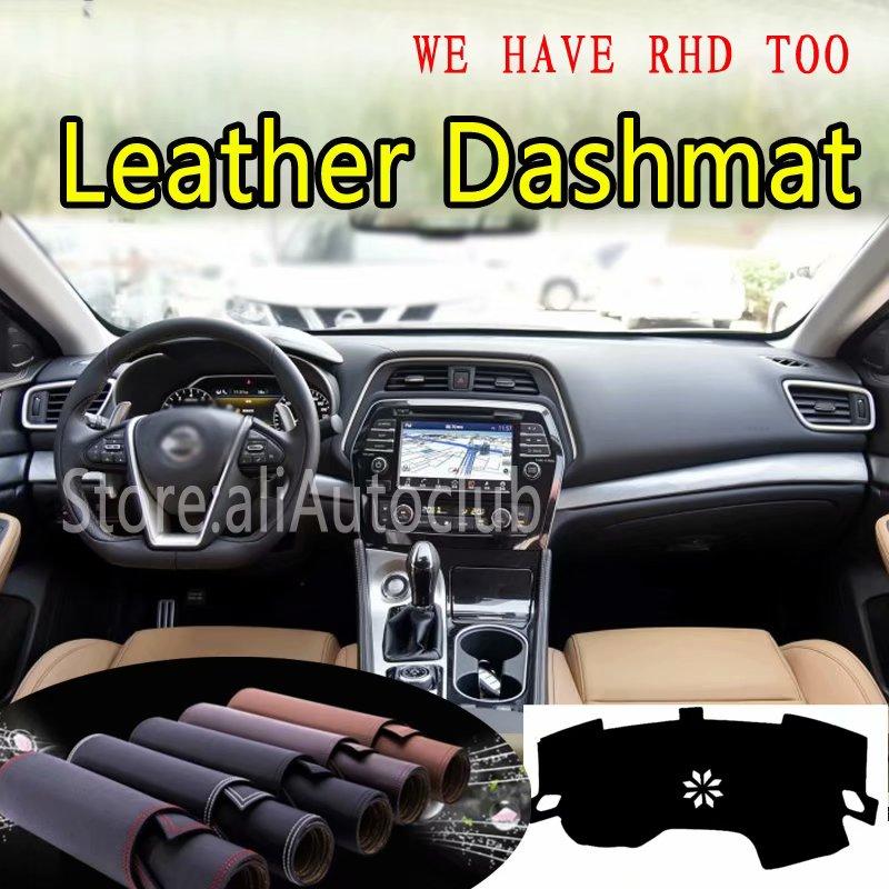 For Nissan Maxima 2015 2016 2017 2018 2019  Leather Dashmat Dashboard Cover Dash Carpet Custom Car Styling Sunshade LHD+RHD