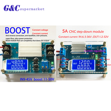 DC-DC 5A CNC Step up down Module Constant Voltage Constant Current with LCD Dispaly aluminum alloy cnc dps3005 30v5a high precision dc constant voltage constant current maintenance mobile phone cnc power supply