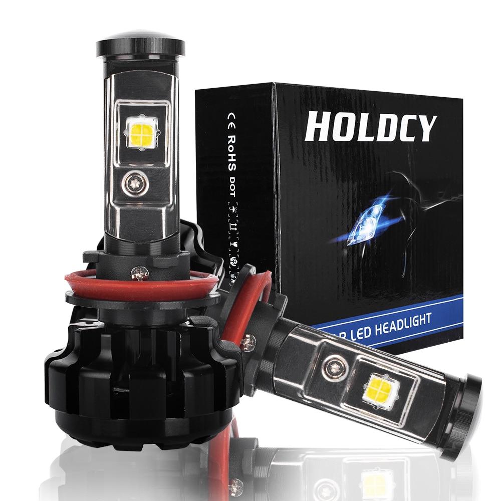 Super Bright H8 H9 H11 LED Headlight Bulbs Conversion Kit For CREE Chip 80W 9600LM Fog Light Car LED Headlights Auto Headlamp
