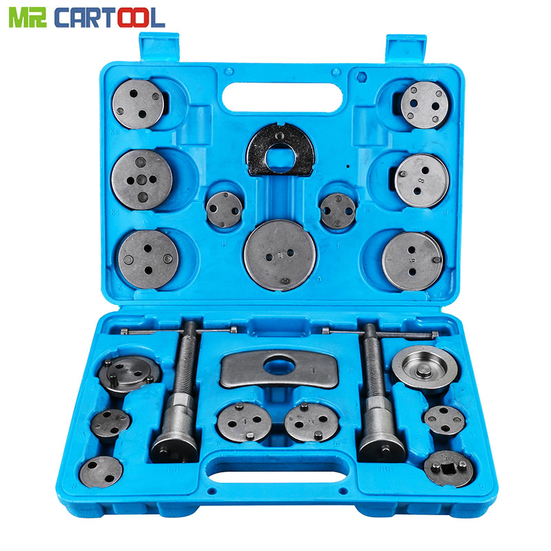 21pcs Universal Car Disc Brake Caliper Rewind Back Brake Piston Compressor Tool Kit Set For Automobiles Garage Repair Tools 2 pair universal car 3d style disc brake caliper covers front rear