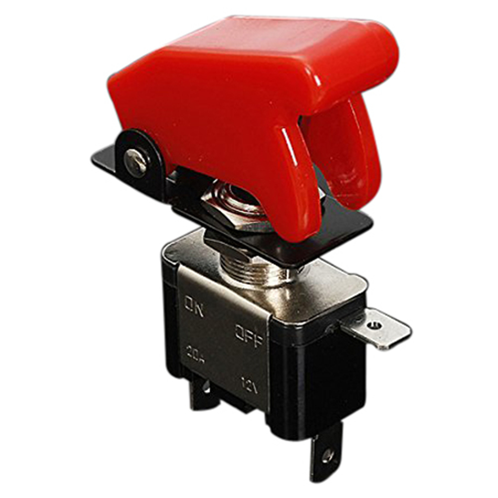 12V 20A Inverter Rocker Switch Lever On / Off LED ON-OFF SPST+COVER Auto Car-Dark Red Rocker Switches Electrical Additional Part 20 pcs 12v 20a amps on off 3 position terminal round rocker led toggle switch blue