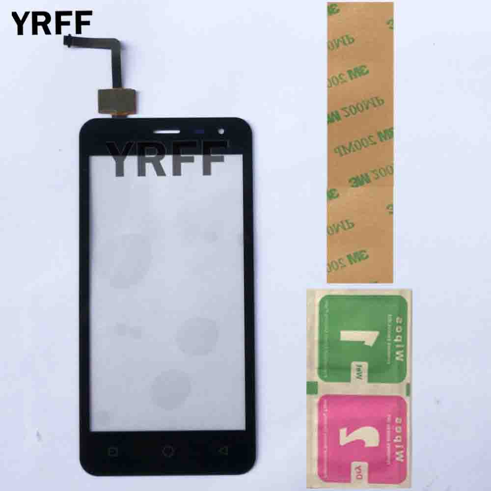 Mobile 4.5'' Touch Screen TouchScreen For Micromax Q415 Canvas Pace Q415 Sensor Digitizer Panel Front Glass Replacement 3M Glue