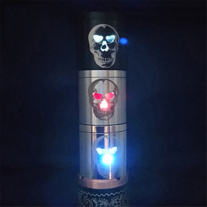 Image 3 - ZZtech New Style Electronic Cigarettes Distinctive LED Skull Design Flash and Change The Colored Lights For All The Atomizers