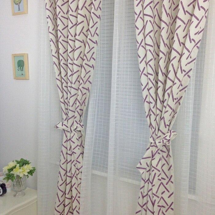 Envío libre patrón abstracto bordado algodón del cordón cortinas ...