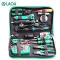 LAOA 16PCS Elektrische Lötkolben Multimeter Telekommunikation Reparatur Werkzeug Set Schraubendreher Utility Messer Zangen Griff Werkzeuge