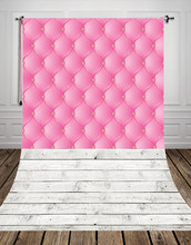 HUAYI Pink Headboard Backdrop With Vintage Gray Wood Floor Art Fabric Newborn Backdrop D-9756(China)